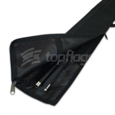 280cm push fit teardrop flag pole with canvas bag