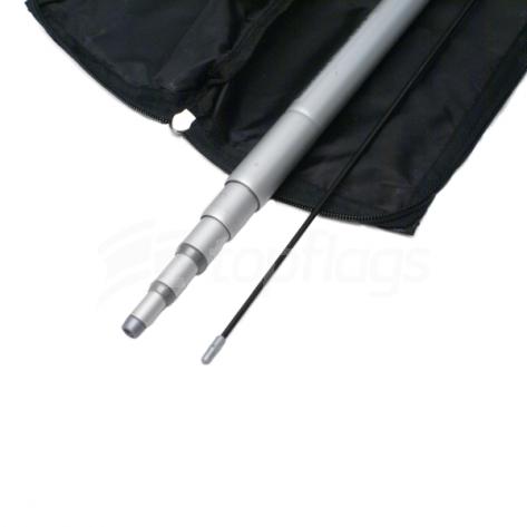 Telescopic Aluminium Flagpole